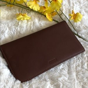 COACH mahogany brown wallet check holder 🧡